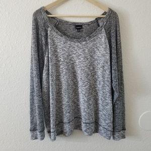 Torrid Gray Knit Long Sleeve Top